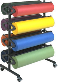 Bulman Products Horizontal Floor And Wall Mount Paper Racks