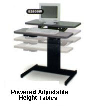 Height Adjustable Work Tables