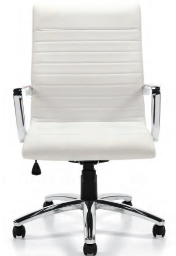 offices to go™ luxhide executive chair with chrome arms