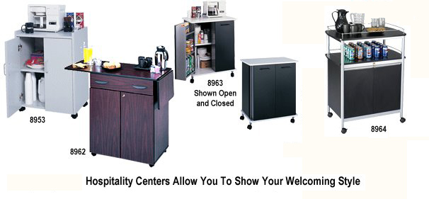 Safco Hospitality Carts, Refreshment Centers