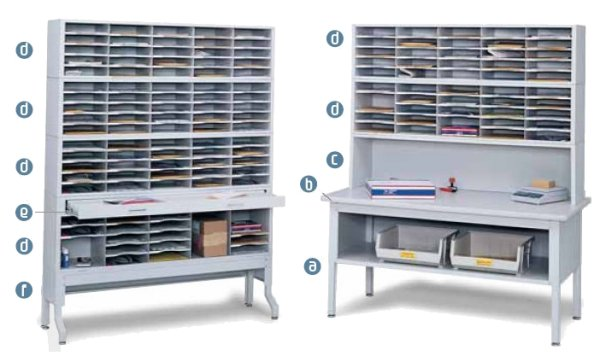 Safco E-Z Sort Mailroom Furniture, Tables, Risers, Sorters