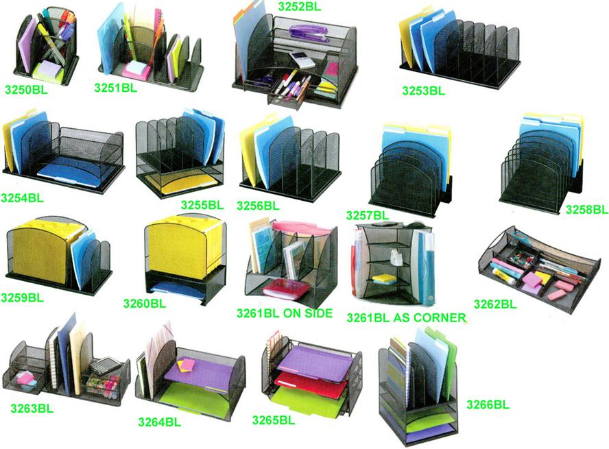 Safco Mesh Desk Organizers 3253bl 3254bl 3255bl 3256bl 3257bl 3258bl