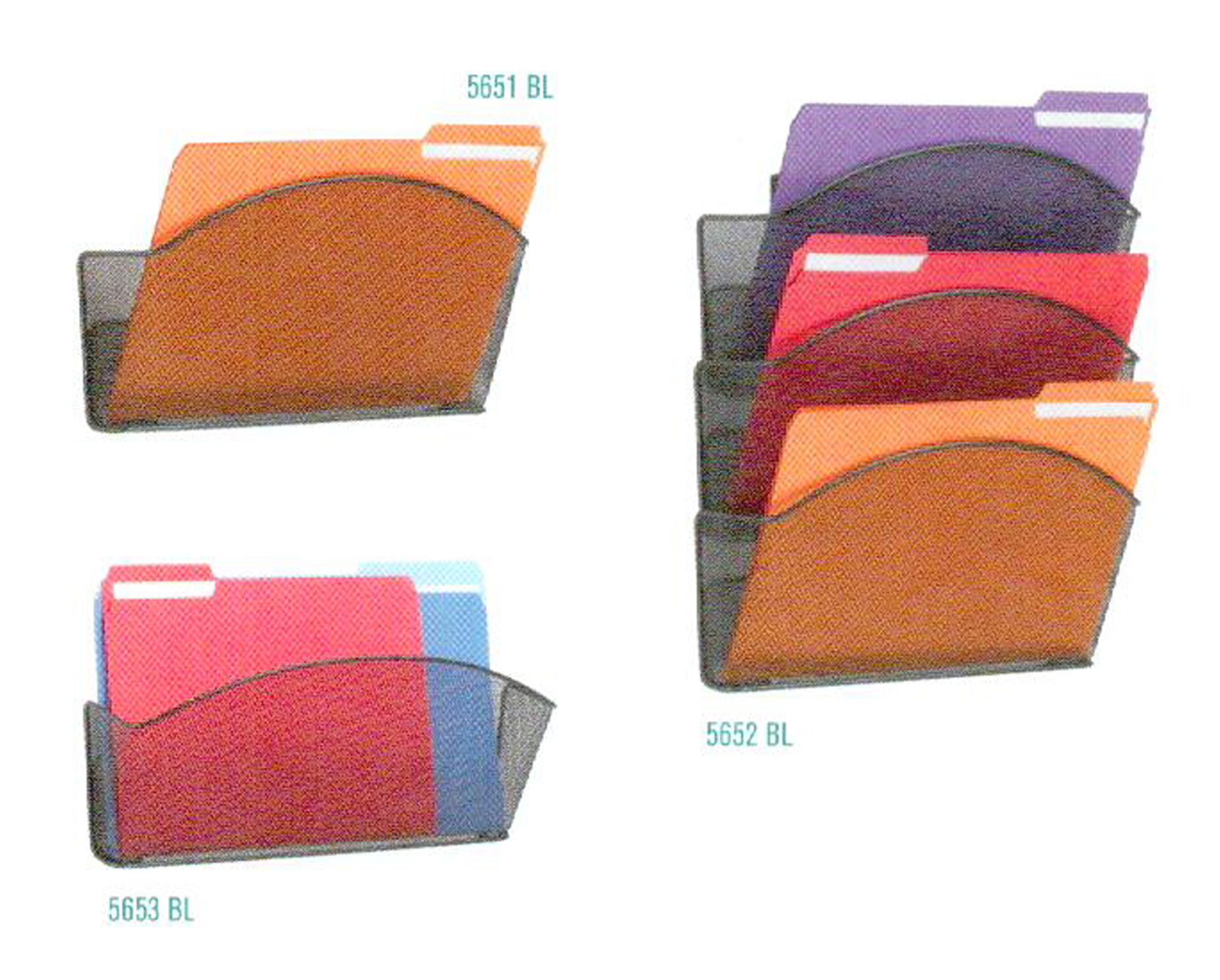 Safco Onyx Mesh Wall Pockets Letter Size Legal Sized